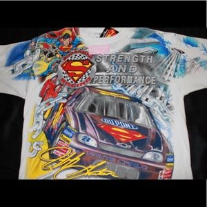 Marvell Superman Jeff Gordon nascar shirt large